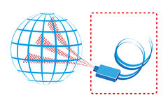 Internet. Connection to the world wide web,  illustration Stock Photography
