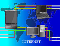 Internet. The Internet communication worldwide, Global Communications Royalty Free Stock Images