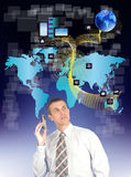 Internet. Social network. The Internet concept Stock Image
