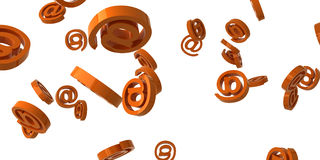 Internet. Falling orange glossy sign. Abstract Royalty Free Stock Photo