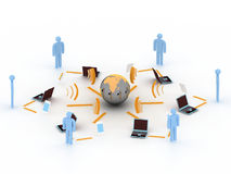 Internet 3d concept. Internet and communication 3d concept Stock Illustration