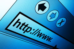 Internet. Www internet browser showing a communication concept Stock Photos