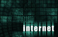 Internet. As a Abstract Background or Illustration Royalty Free Stock Photography