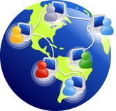 Internet. Users around the world Stock Photo