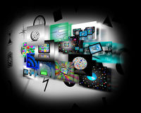 Internet abstraction. Abstraction which shows several images belonging to the global Internet Royalty Free Stock Images