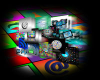 Internet abstraction. Abstraction which shows several images belonging to the global Internet Royalty Free Stock Image
