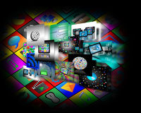 Internet abstraction. Abstraction which shows several images belonging to the global Internet Royalty Free Stock Photo