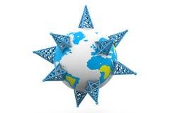 Internet access around the world stock illustration