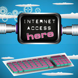 Internet access here Royalty Free Stock Image