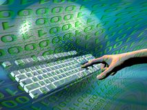 Internet access, keyboard Royalty Free Stock Images