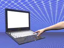 Internet access, laptop Stock Image