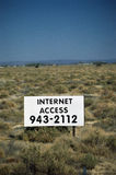 Internet Access sign Stock Photography