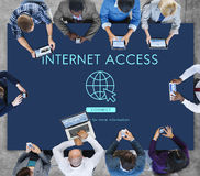 Internet Access URL Browsing Connection Concept. People Using Internet Access URL Browsing Connection Stock Image