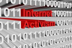 Internet activism. In the form of binary code, 3D illustration Royalty Free Stock Photos