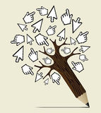 Internet activity concept tree Stock Photography