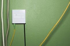 Internet ad alta velocità della scatola a fibra ottica Fotografie Stock
