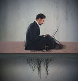 Internet addiction concept Stock Photo