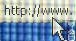 Internet address Stock Photo