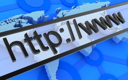 Internet address Stock Photo