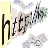 Internet address Images stock