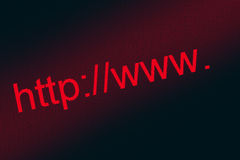 Internet address. Royalty Free Stock Images