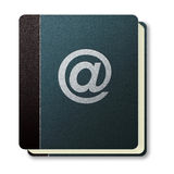 Internet address book icon Royalty Free Stock Image