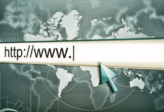 Internet address, computer screen Stock Image
