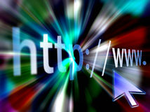 Internet address http. Http//:www. illustration of internet address Royalty Free Stock Photography