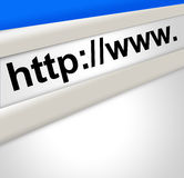 Internet Address Screen Stock Photos