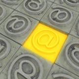 Stone Address Button Royalty Free Stock Photo