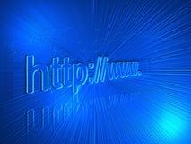 Internet adress royaltyfri illustrationer
