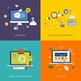 Internet advertising icons Stock Photos