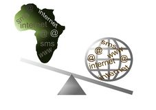Internet in Africa Stock Image