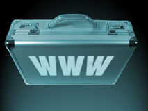 Internet-Aktenkoffer Stockbild
