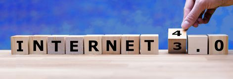 Internet 4.0: The Ambient Internet. Is formed by dices royalty free stock photos