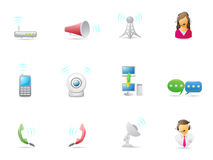 Internet & Communicatie pictogram Royalty-vrije Stock Foto's