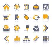 Internet & het pictogramreeks van het Web | De reeks van de vitamine Stock Fotografie