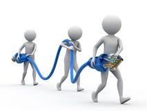 Internet-Anschlussfähigkeit-Team stock abbildung