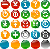 Internet and application icon. Up to 20 various icons and 5 circle  button for your web and application Royalty Free Stock Photo
