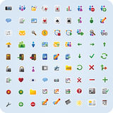 Internet and application icons. 81 various web and internet icons for your website, internet, presentation and application project Stock Photos