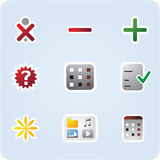 Internet and application icons Stock Images