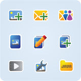 Internet and application icons Stock Photography
