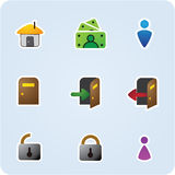 Internet and application icons Royalty Free Stock Image