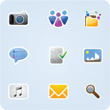 Internet and application icons Royalty Free Stock Images