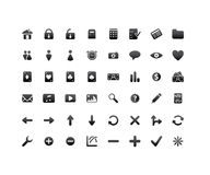 Internet and application icons. 48 various web and internet icons for your website, internet, presentation and application project Royalty Free Stock Image