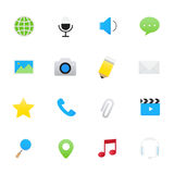 Internet Application and Social Media Icons.   Royalty Free Stock Photography