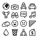 Internet, application, tchnology stroke line icons set Royalty Free Stock Photo