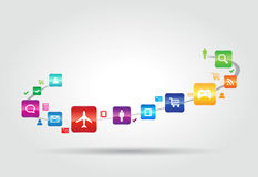 Internet Apps Concept Royalty Free Stock Images