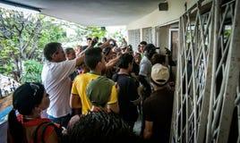 Internet arriva a Cuba I Fotografie Stock Libere da Diritti