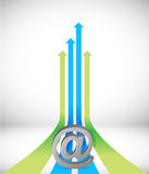 Internet Arrow rising toward same direction Royalty Free Stock Photo